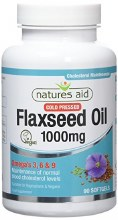 Natures Aid Flaxseed Oil 1000mg ( 90 Capsules)