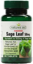 Natures Aid Sage Leaf 50mg (90 Tablets)