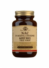 Solgar NAC (N-Acetyl Cysteine) 600mg 60 Vegetable Capsules