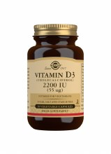 Solgar Vitamin D3 Cholecalciferol 2200IU 55ug 50 Capsules