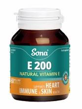 Sona Vitamin E 200IU 60 Capsules