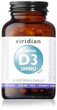 Viridian Vitamin D3 2000IU 60 Vegetarian Capsules