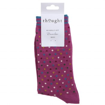 4-7 Violet Bamboo Socks