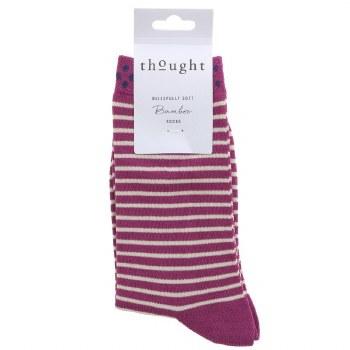 4-7 Violet Stripe Bamboo Socks
