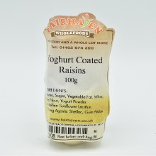 Yoghurt Coated Raisins 100g