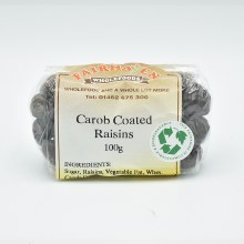 Carob Coated Raisins 100g