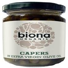 Biona Capers In Olive Oil Og