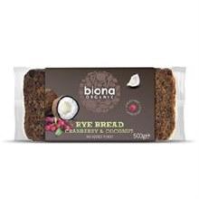 Biona Coconut/cran Rye Bread