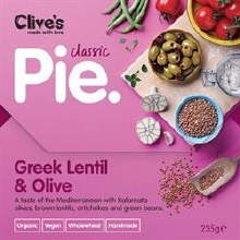 Clives Greek Lentil/olive Pie