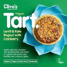 Clives Lentil & Kale Tart