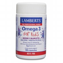 Lamberts Berry Bursts Omega 3 For Kids 100 Tablets