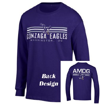T Shirt Chp L/S AMDG Purple L