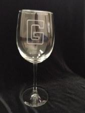 "Glass Wine Stemmed ""G"""