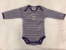 Onesie Striped L/S P 0-3 mo