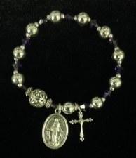 Bracelet, Rosary Silver