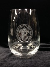 Glass, Etched Wine Stemless 15 oz