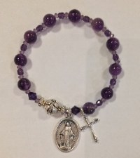 Bracelet, Rosary Crystal