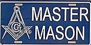 Master Mason License Plate