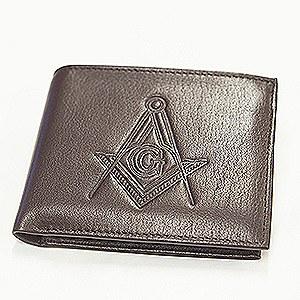 Leather Flipfold Wallet Brown