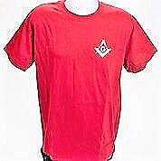 Antique Red Tee Shirt with Square and Compass