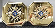 Gold starburst cufflinks