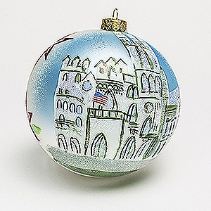 Masonic Temple Handmade Holiday Globe - Originally $30 - Sale! $18