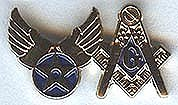 Armed Forces Pin: Masonic & Air Force