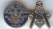 Armed Forces Pin: Masonic & Army