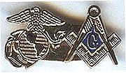 Armed Forces Pin: Masonic & Marines