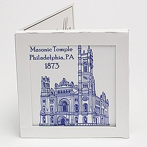 Masonic Temple Trivet Tile