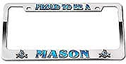 Masonic License Plate Frame