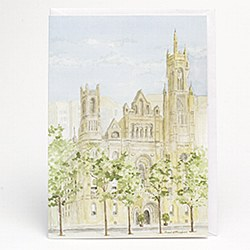 Masonic Temple Blank Note Card