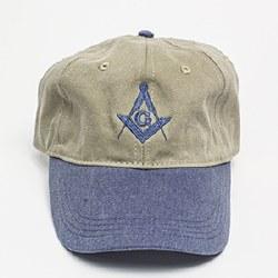 Khaki & Blue Ball Cap