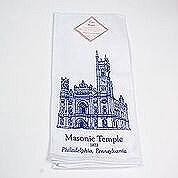 Masonic Temple Towel