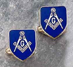 Blue Lodge Cloisonne Cuff Links