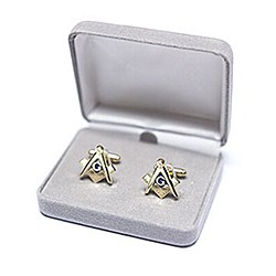 Square & Compass Cuff Links
