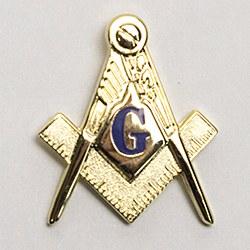 Large Sq & Compass Lapel Pin
