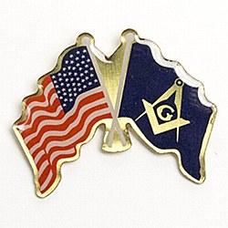 American Flag & Masonic Flag Lapel Pin