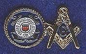 Coast Guard Masonic pin