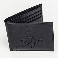 Leather Flipfold Wallet Black