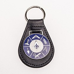 Leather Key Fob with Working Tools
