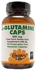 Country Life L-Glutamine Caps 500 milligrams 100 vegetarian capsules