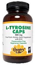 Country Life L-Tyrosine with B-6 500 millirams 50 vegetarian capsules