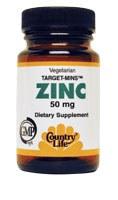 Country Life Target-Mins Zinc 50 milligrams 120 vegetarian tablets