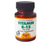 Country Life Vitamin B-12 500 micrograms 100 tablets