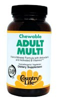 Country Life Chewable Adult Multi-Vitamin 60 wafers
