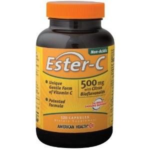 American Health Ester-C 500mg Citrus Bioflavonoids, 120 wafers