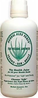 Herbal Answers Herbal Aloe Force Liquid with herbs added