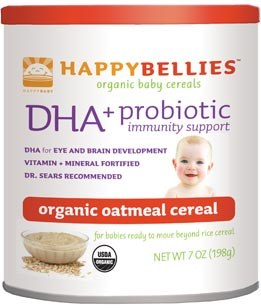 Earth's Best Happy Bellies Organic Oatmeal Baby Cereal 8 oz