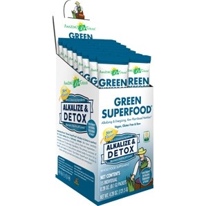Amazing Grass Alkalize & Detox Green Superfood, 15 single serving packets